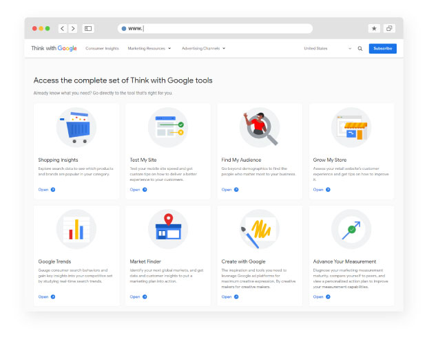 Think with Google: Marketer's Almanac