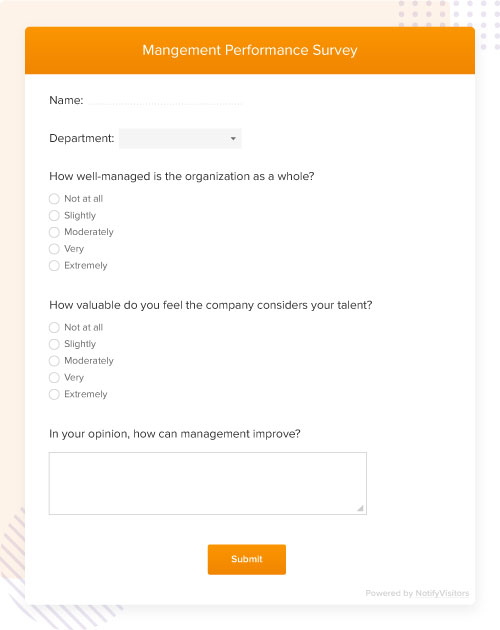 management performance survey